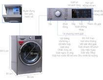 Hướng dẫn sử dụng máy giặt sấy LG FC1409D4E chi tiết các chức năng