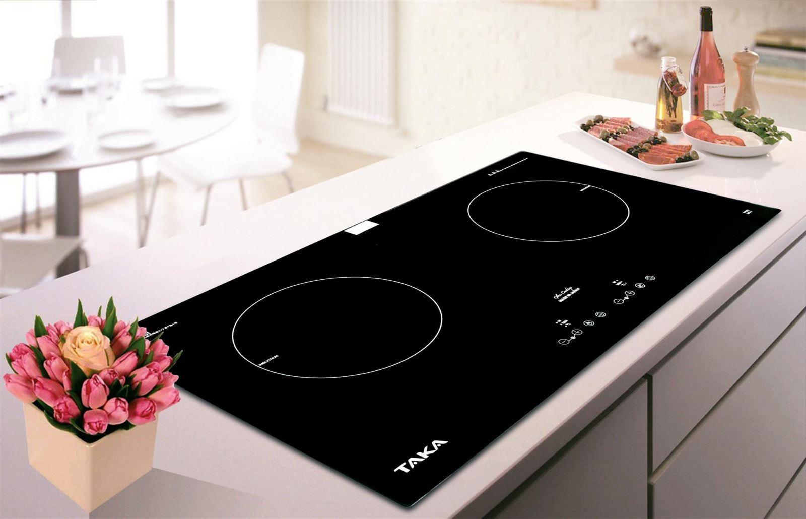 Các dòng bếp điện Taka hầu hết được thiết kế từ 2 tới 3 vùng nấu