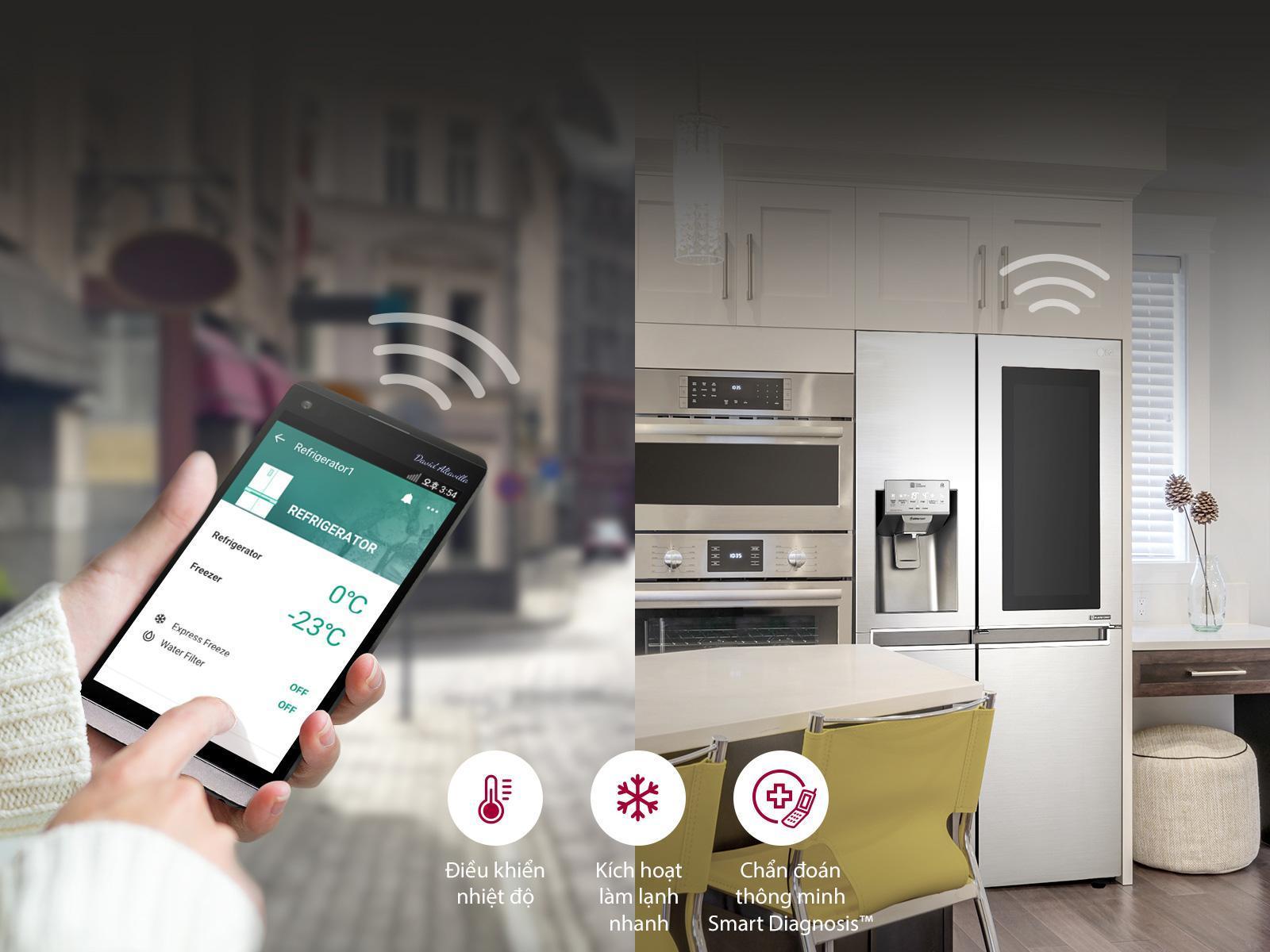 Kết nối điều khiển từ xa nhờ công nghệ ứng dụng Smart ThinQ™