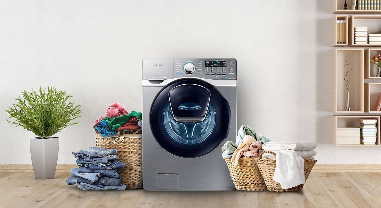 Thiết kế kiểu dáng máy giặt Samsung tinh tế