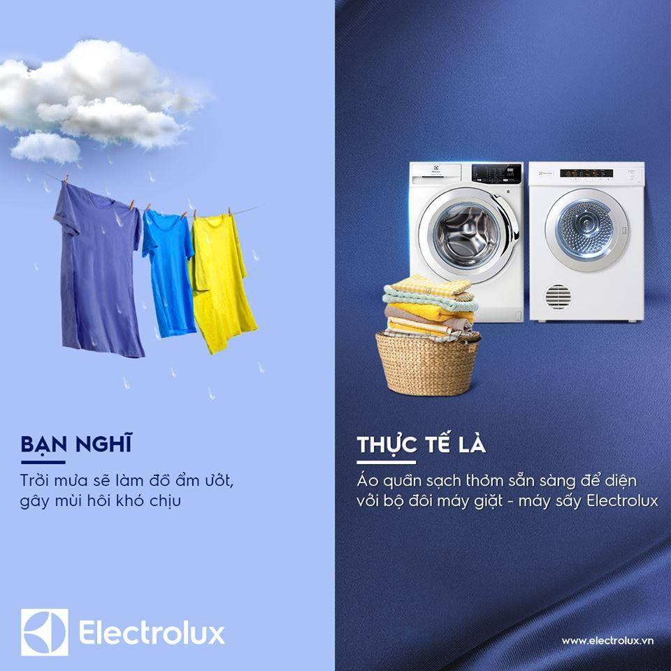 Máy giặt có sấy Electrolux EWW14023 giúp bạn yên tâm quần áo luôn sạch thơm, khô ráo trong mọi điều kiện thời tiết
