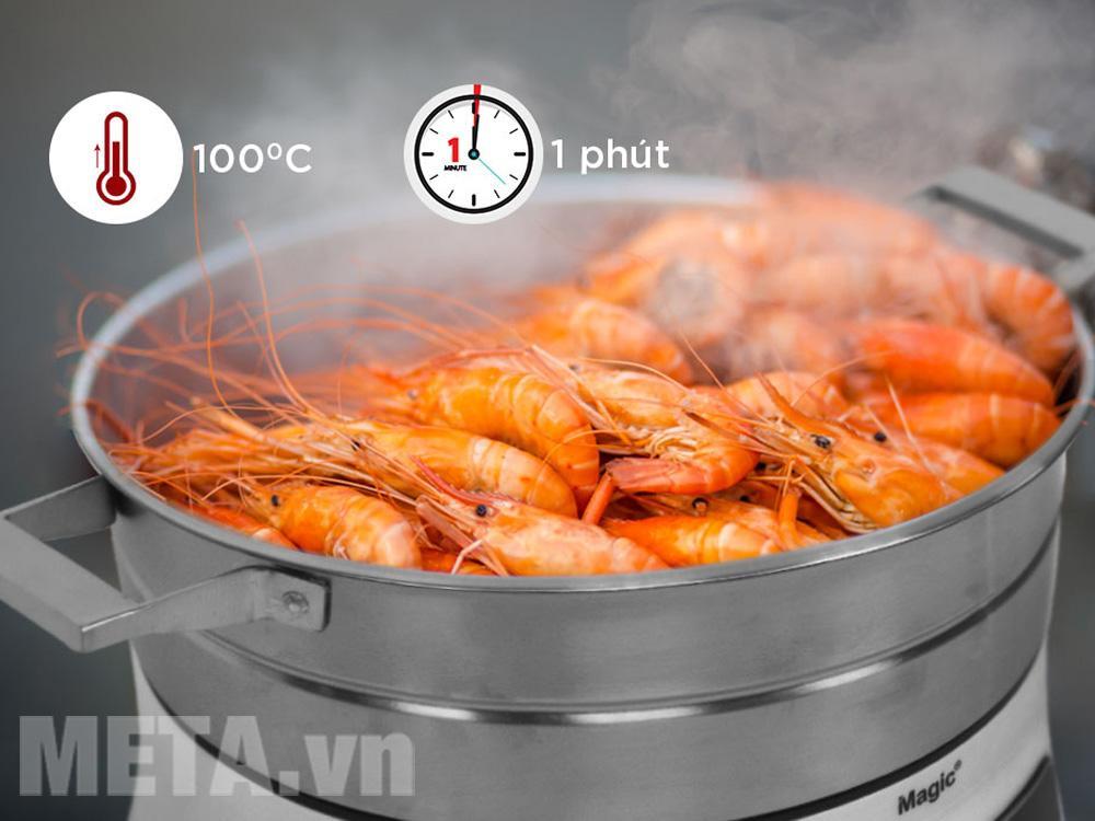 Nồi hấp thủy nhiệt A67 của Magic Korea tiết kiệm thời gian vào bếp