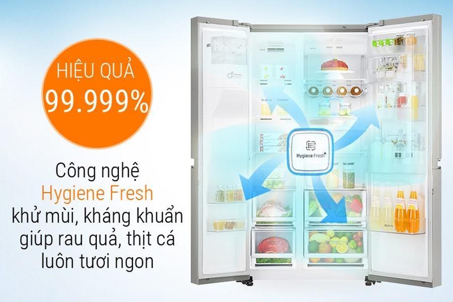 Tủ lạnh Side by Side của LG có nhiều công nghệ vượt trội