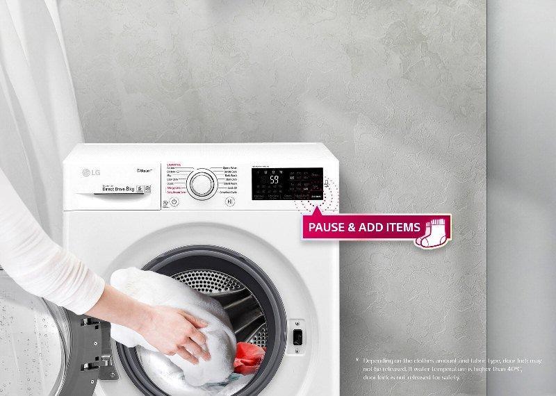 Kiểu dáng đẹp của máy giặt LG 9kg