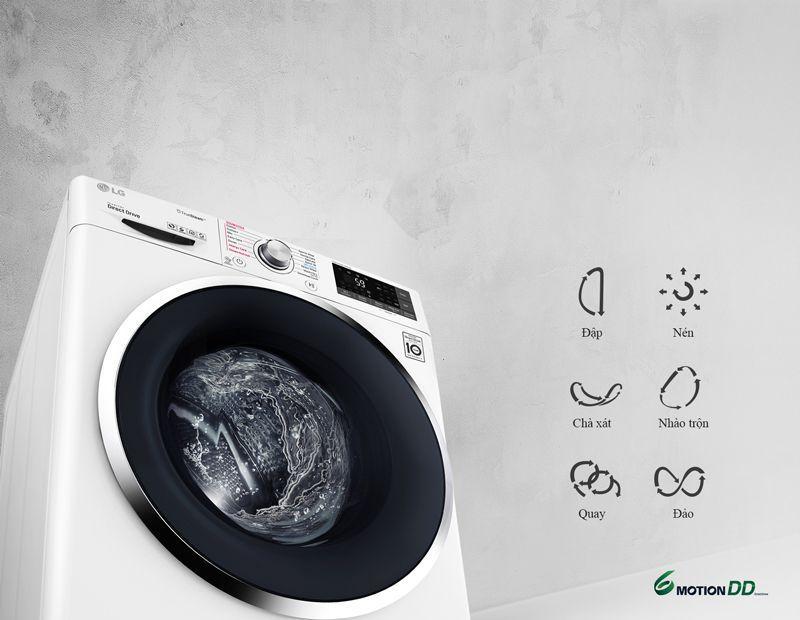 Máy giặt LG 9kg có nhiều chức năng tiện dụng