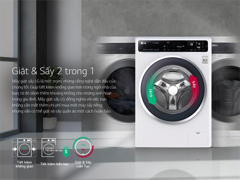 Một số máy giặt LG 9kg có thêm chức năng sấy