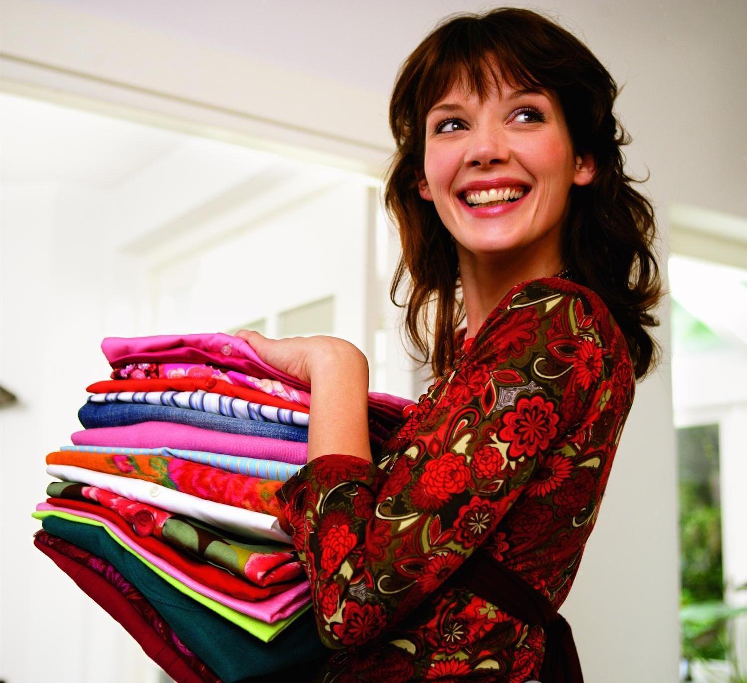 Quần áo sau khi dùng máy sấy quần áo 8 kg Gorenje D844BH không bị nhăn, thơm tho sạch sẽ