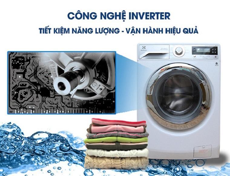 Máy giặt Inverter với khả năng vận hành êm ái và tiết kiệm điện năng