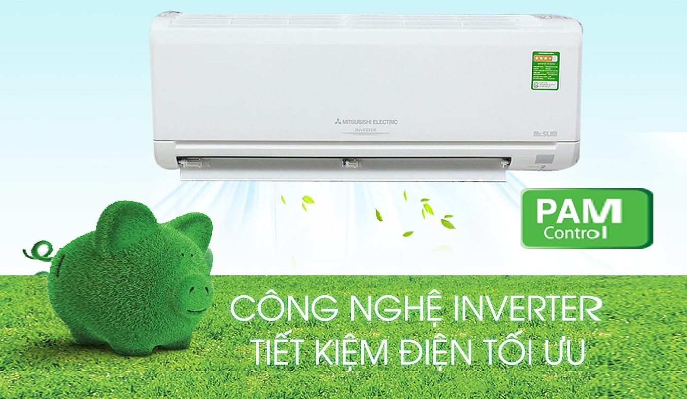 Máy lạnh Mitsubishi Electric MSY-GM18VA, 1 chiều tiết kiệm điện năng tối ưu nhờ công nghệ PAM Inverter