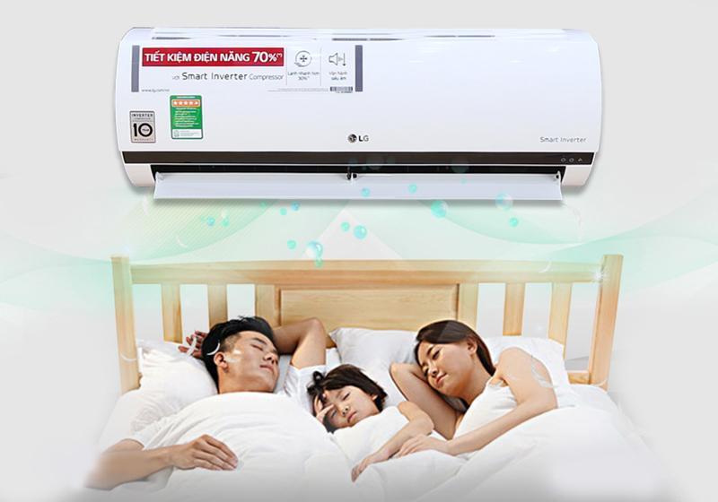 Điều hòa LG 1 chiều 9000BTU V10ENQ cho giấc ngủ gia đình được ngon giấc hơn
