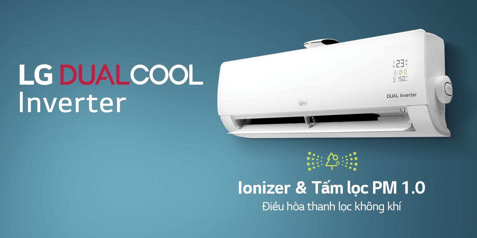Điều hòa LG Inverter 2 chiều B10APF sử dụng công nghệ Dual Cool Inverter