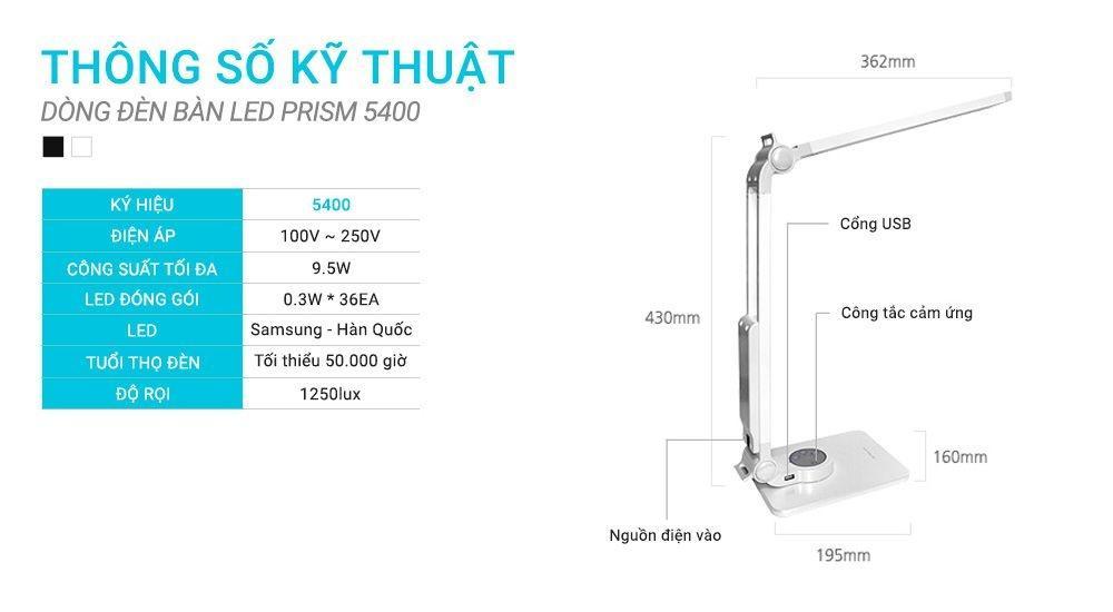 Đèn bàn Prism 5400CW với thiết kế ưu việt và ấn tượng