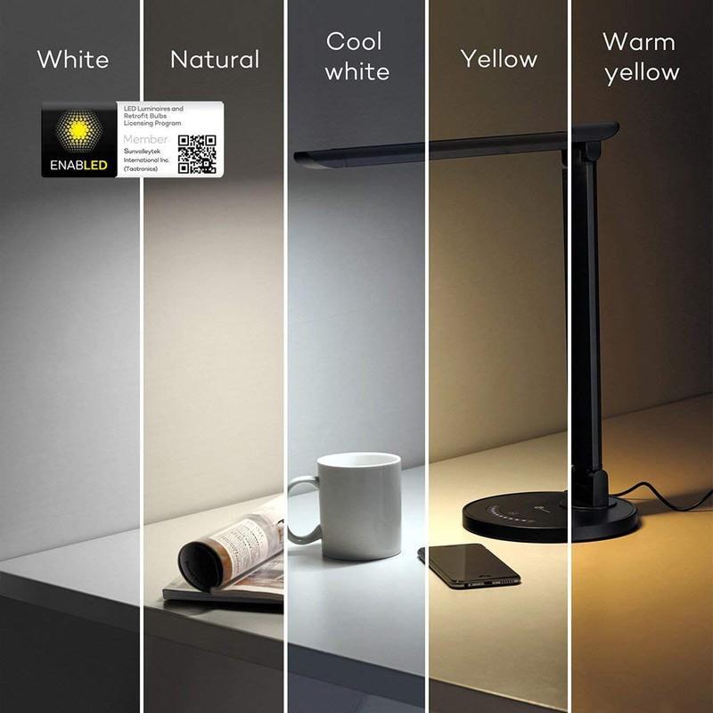Đèn chống cận TaoTronics TT-DL13 có nhiều mức độ chiếu sáng phù hợp với nhu cầu của người dùng
